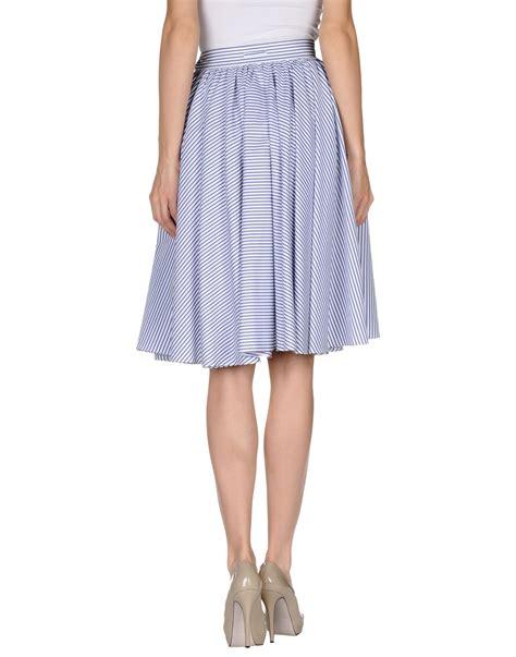 jean paul gaultier knee length skirt in blue lyst