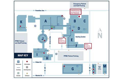 medical center floor plan floor plans of penn presbyterian medical center penn
