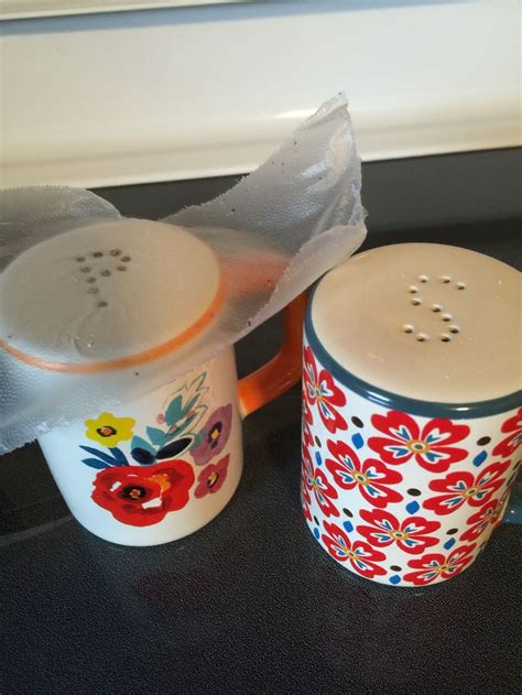 how to use a salt l use press and seal wrap when filling your salt and pepper