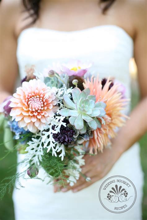 Wedding Bouquet With Succulents by Dahlia And Succulent Wedding Bouquet Recipes