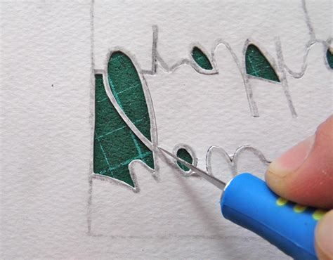Paper Cut Craft - paper cutting fundamentals how to cut tricky letters