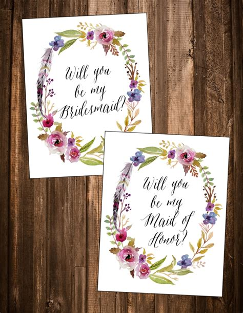 Bridesmaid Card Template Free by Free Quot Will You Be My Bridesmaid Quot Printables