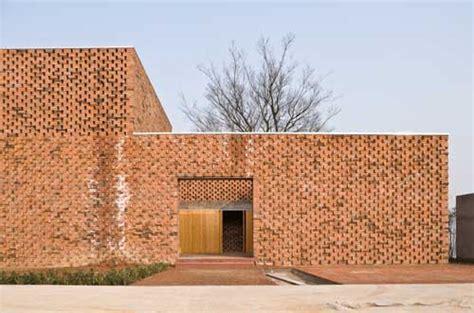 brick pattern house alireza mashhadimirza chinese brick house gaochun building by azl e architect