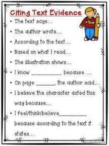 Cite Textual Evidence Worksheet by Citing Text Evidence Poster Freebie Free Educational