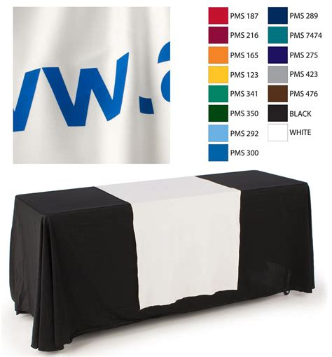 white table runner with custom printed text 30 quot white