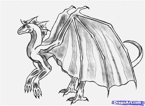 Drawing Dragons by How To Draw A Step By Step Dragons Draw A