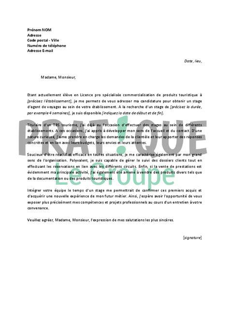 Lettre De Motivation Pour Demande De Visa Touristique lettre de motivation pour un stage d de voyages