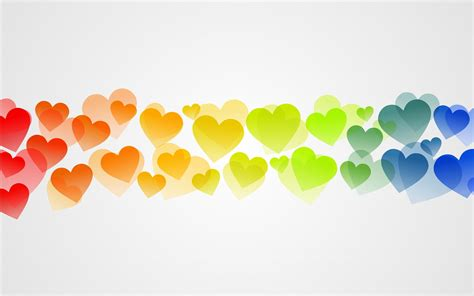 imagenes de amor en wallpaper corazones de colores imagenes wallpapers amor