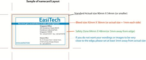 Special Produk Business File Ukuran F4 easitech product details 100pcs name card printing only