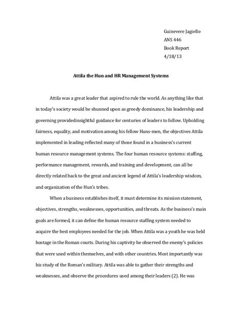 Resources Essay attila the essay relation to modern day human resources