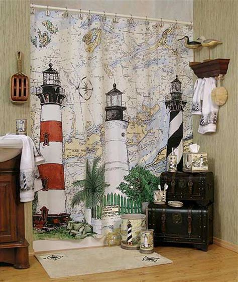 lighthouse themed bathroom i am replacing my blue lighthouse shower curtain with this