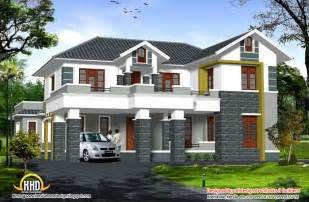 2 Story Home Designs Sloping Roof 2 Story Home 2907 Sq Ft Kerala Home