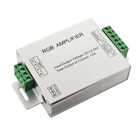 Rgb Led Lifier 12v 24v 12a rgb led signal lifier for led strips mjjcled