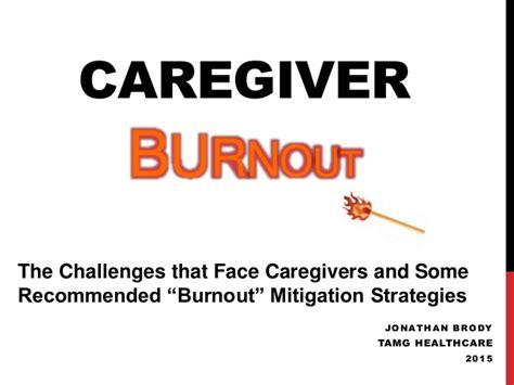 caregiver challenges caregiver burnout slideshare