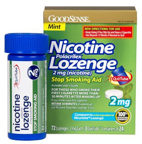 Detox From Nicotine Lozenges by Goodsense Nicotine Lozenge 2mg Nicotine
