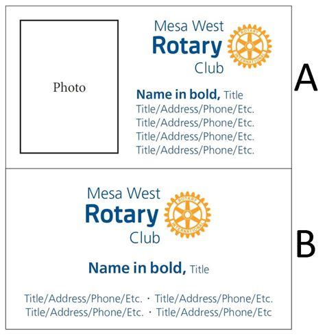 rotary card template rotary business cards image collections business card