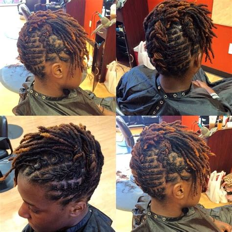 short dread pin downs and pin ups short locs style of the week loc luv pinterest