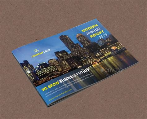 landscape report layout 40 best corporate indesign annual report templates web