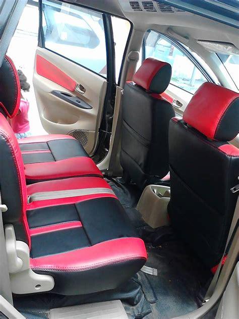 Sarung Mobil Avanza Xenia jual sarung jok mobil avanza xenia semi kulit freelander merah hitam jok mobil