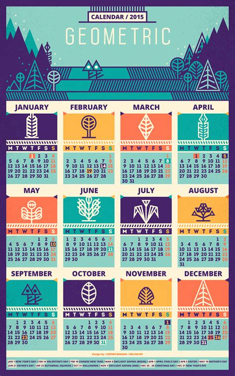 schedule layout graphic design 50 absolutely beautiful 2016 calendar designs hongkiat