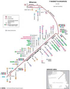 San Francisco Trolley Map by San Francisco Trolley Map Offically Called Quot F Market