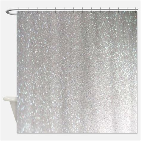 Silver Glitter Curtains Sparkle Shower Curtains Cafepress