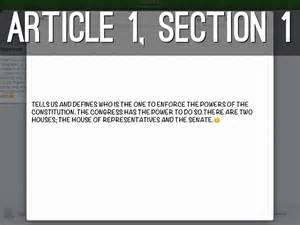 Us Constitution Article 1 Section 2 by U S Constitution By Cellie Merkman W