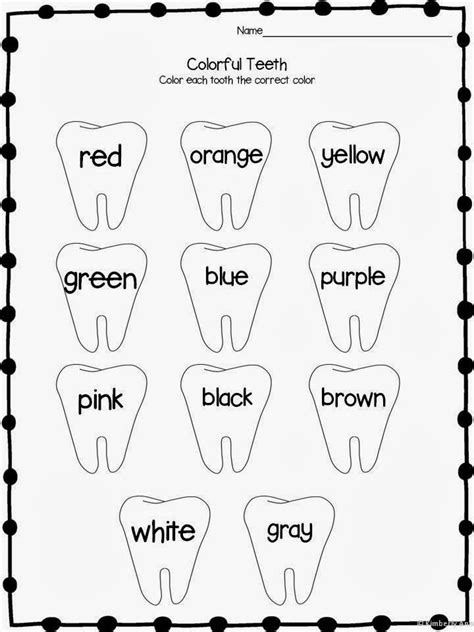 dental health coloring pages preschool print and learn literacy and math worksheets february