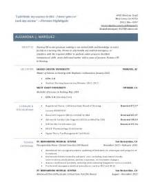 Rn Resume Exles New Grad by New Grad Rn Resume