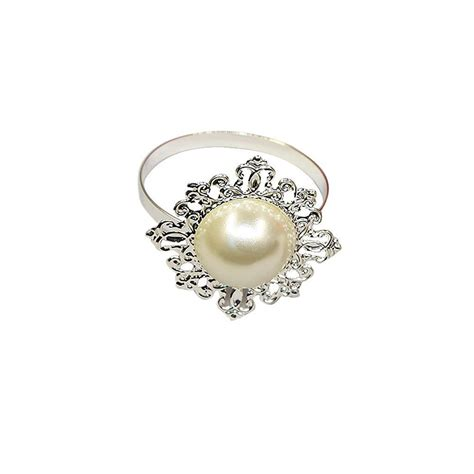 Faux Pearl Ring faux pearl napkin rings promotion shop for promotional