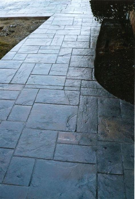 stamped concrete patiolooks  slate   laws