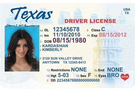 driver license template drivers license template best business template