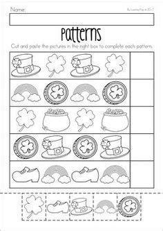 pattern day kindergarten free winter patterns cut and paste worksheet teacher