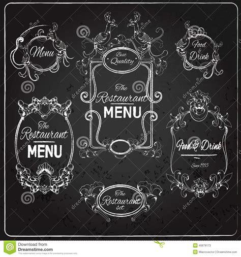 Tafeln Zum Beschriften by Restaurant Beschriftet Tafel Vektor Abbildung Bild 40679173