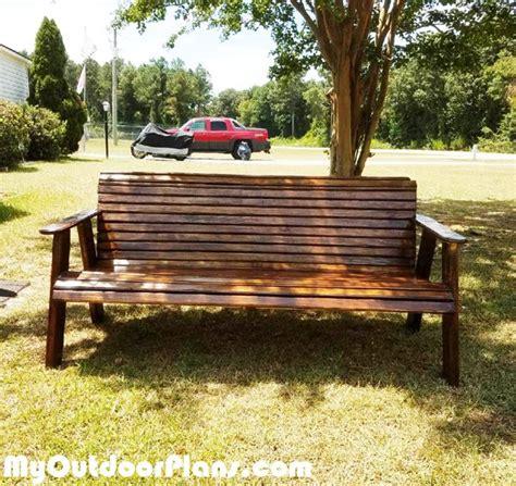 homemade bench swing diy swing style garden bench myoutdoorplans free