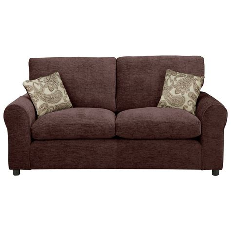 sofa bed argos uk buy home tabitha 2 seater fabric sofa bed chocolate at
