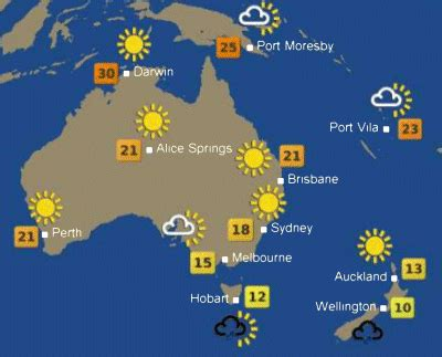 australia weather map map