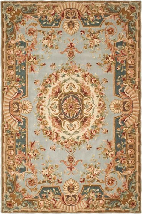 Turkish Carpet Patterns by Safavieh Savonnerie Sav201b Blue Beige 9 X 12 Rug