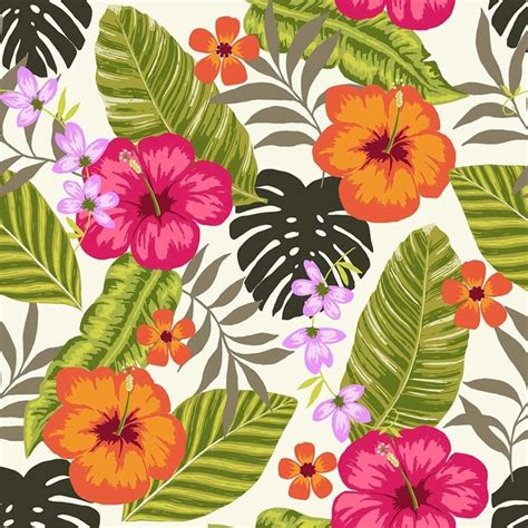 Tropical fiesta wallpaper tiles tropical wallpaper by design your wall
