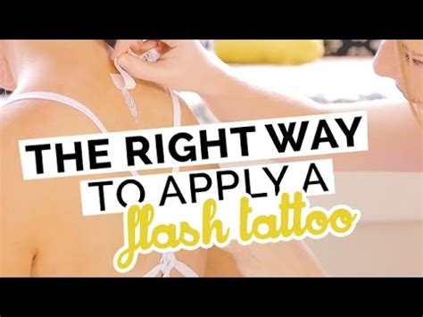 Flash Tattoo How To Apply | how to apply a flash tattoo body art 5 min tutorial