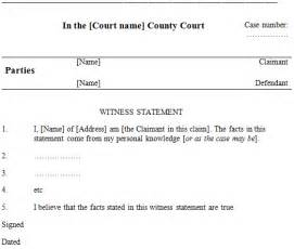 Written Statement Template Witness by Witness Statements