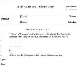 witness statement template witness statements