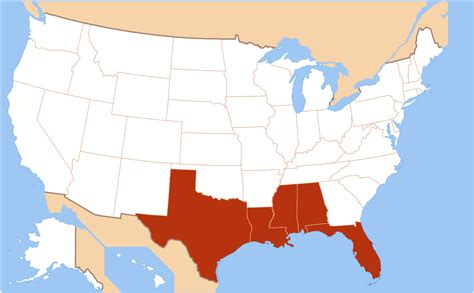 map us states gulf mexico gulf coast of the united states