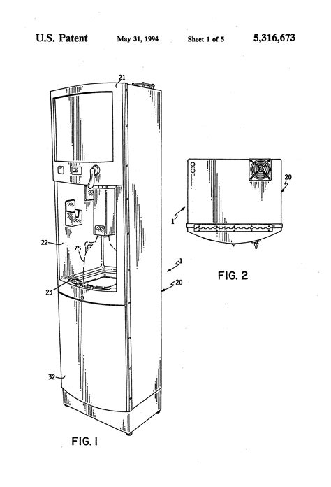 water dispenser diagram patent us5316673 spout assembly for self service