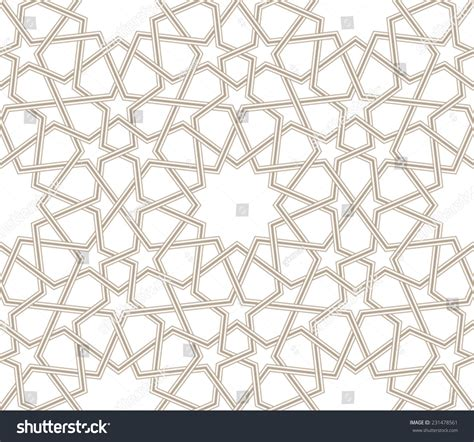 islamic star vector pattern islamic star pattern grey lines white stock vector