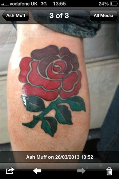 england rugby rose tattoo rugby