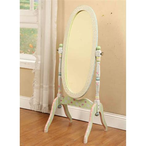 shabby chic floor standing mirror shabby chic floral standing mirror