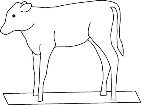 coloring page golden calf