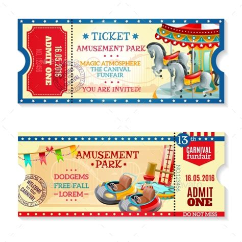 keynote theme park superset 2 invitation tickets to carnival in amusement park by