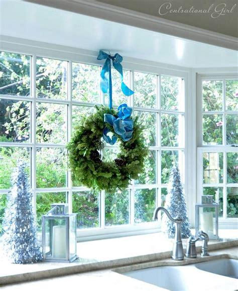 wreath in bay window centsational tour